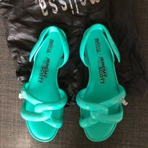 Melissa X Jeremy Scott jelly sandal adjustable NEW